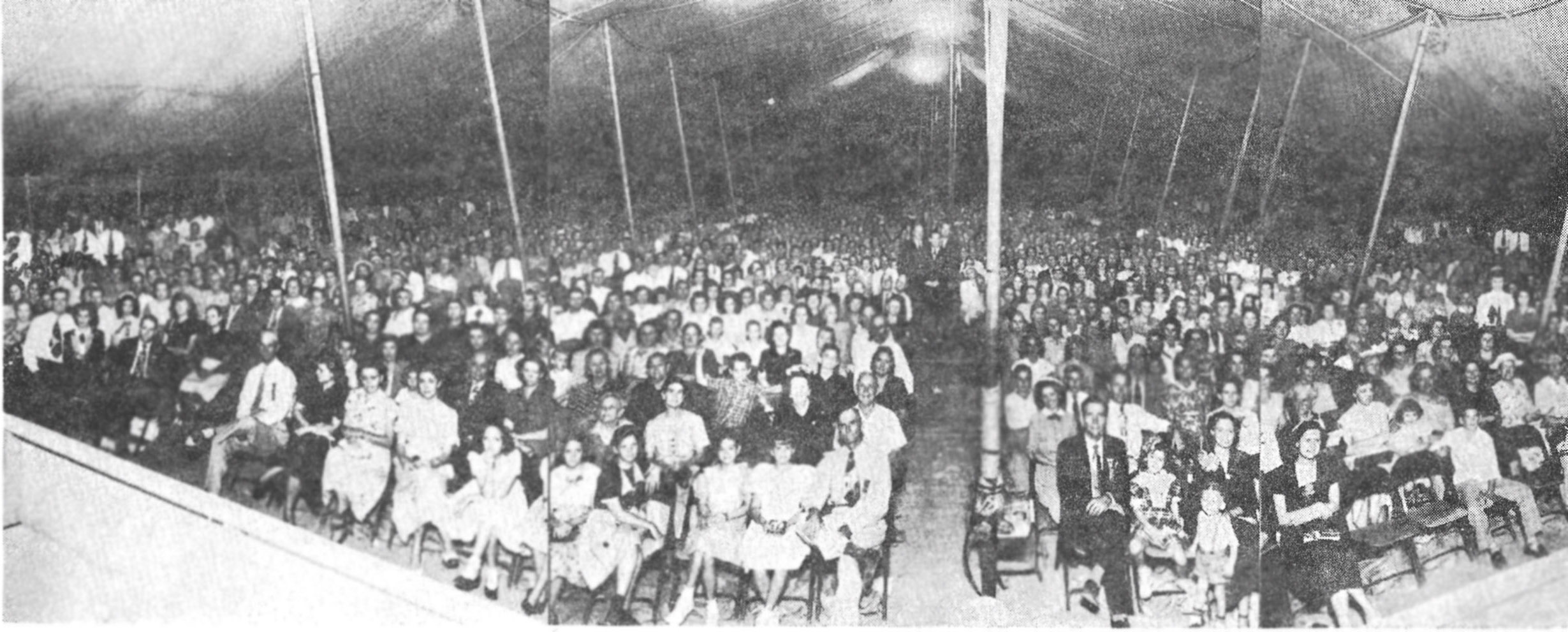 Tent Meeting held by Gayle Jackson. Dallas, Texas, August, 1960.